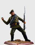Рядовой 5 - го стрелкового полка с гранатой